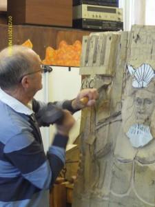 Michael carving neptune