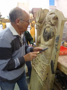 Mike carving Neptune 1