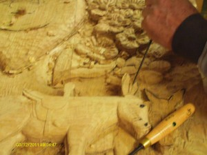 carving donkeys