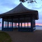 Barry Sunset behind Pagoda copy