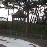 Pagoda prior to refurbishment and Paddling pool DSC00185