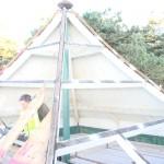 Pagoda roof work in progress DSC00233