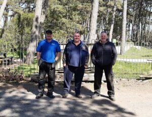 grounds maintenance team